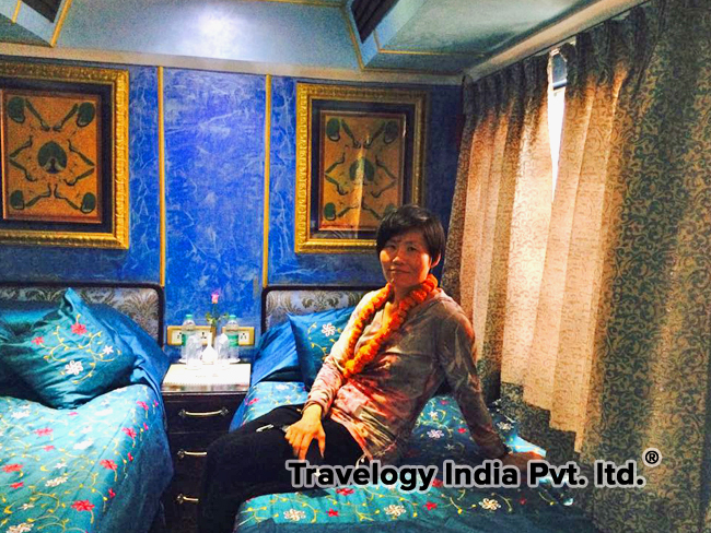 Clients Rest onboard the Palace on Wheels Train