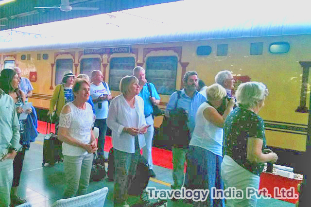 Guests Arriving in the Palace on Wheels train