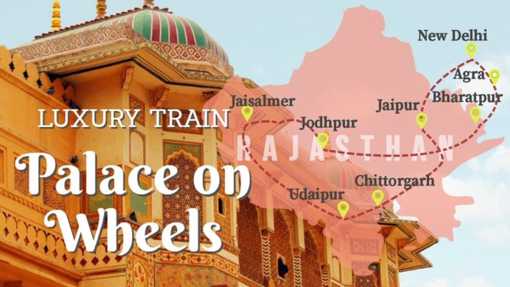 Route Map of Palace on Wheels Train