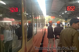Waiting for Palace on Wheels Train