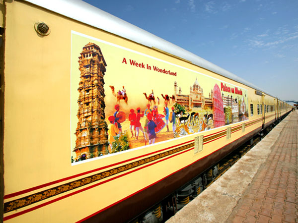 The Palace on Wheels Train Arriving