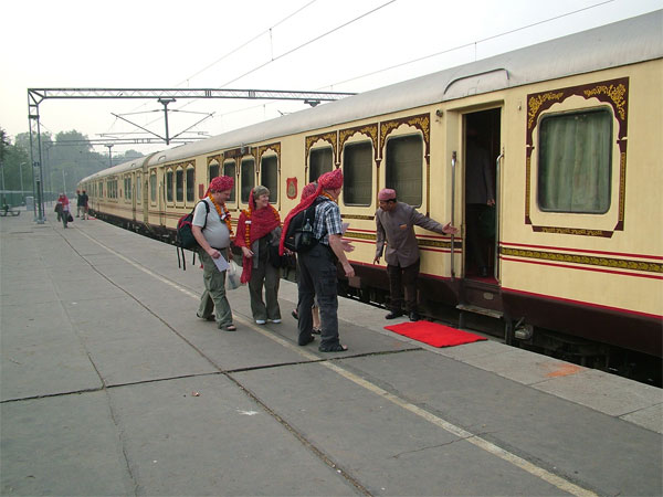 Journey Starts in Palace on Wheels Train